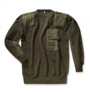 Bundeswehr-Pullover oliv