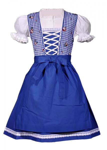 Kinderdirndl Sabrina blau Trachtenset 3-tlg. Isar Trachten