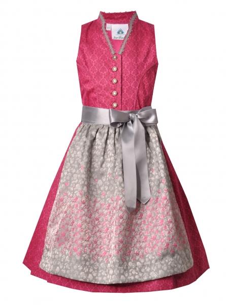 Kinderdirndl Jugenddirndl Engelthal pink silber grau Isar-Trachten
