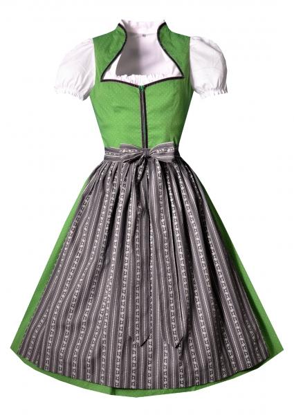 Dirndl midi 70 cm Ziegelstadel grün grau Set 3-tlg. Berwin & Wolff