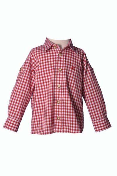 Kinder Trachtenhemd Moritz rot OS Trachten