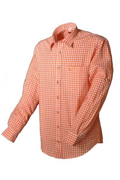 Trachtenhemd Ludwig orange OS Trachten