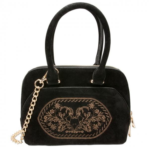 Trachten Handtasche Trachtentasche Steinbock schwarz