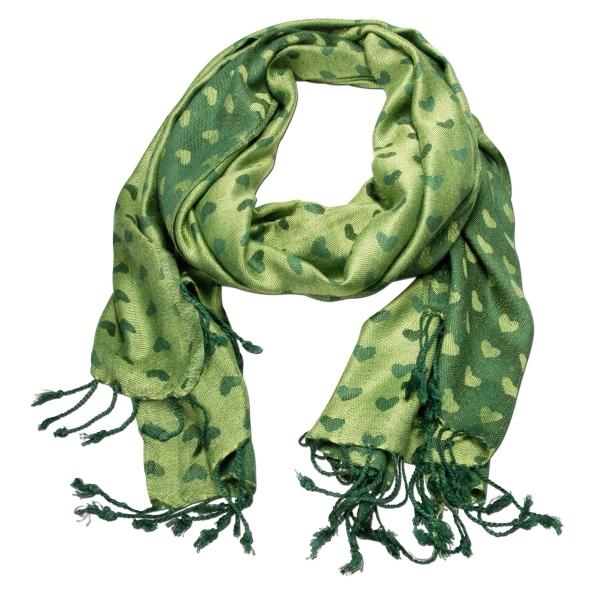Trachtenschal Herzilein grün