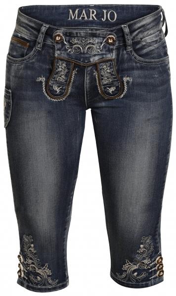 Trachtenjeans Franziska blau Jeans-Kniebundhose Marjo