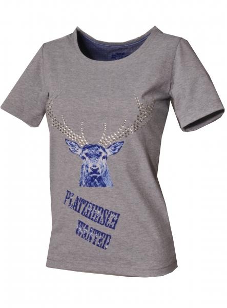 Trachten T-Shirt Benningen grau Kurzarm OS Trachten