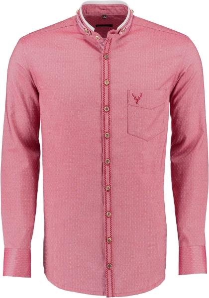 Trachtenhemd Aitrang rot Gipfelstürmer Langarm Slim Fit OS Trachten
