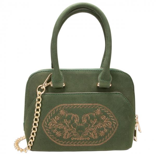Trachten Handtasche Trachtentasche Steinbock grün