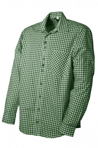 Trachtenhemd Megesheim grün/weiß OS Trachten