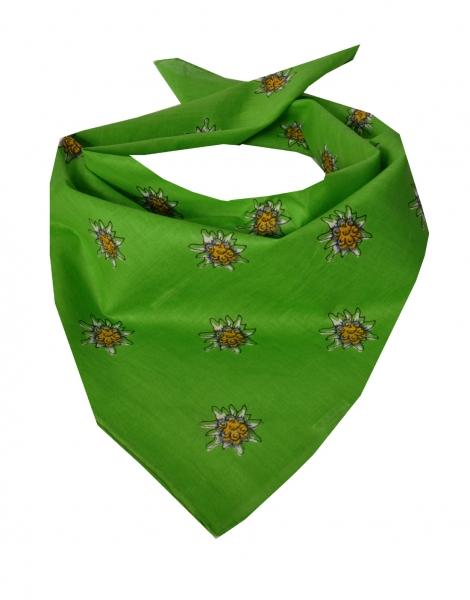 Trachtentuch Nickituch grün kiwigrün Edelweiß