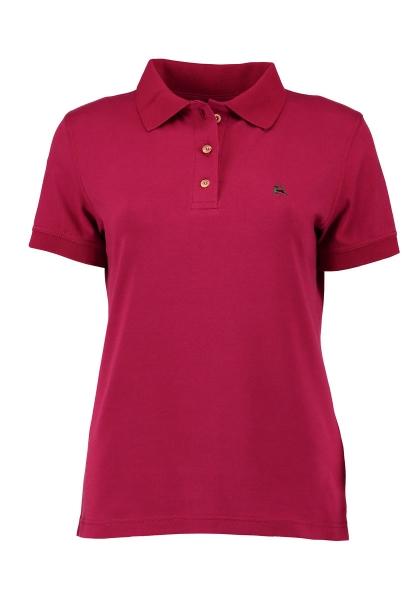 Trachten Poloshirt T-Shirt Harskirchen weinrot rot Kurzarm OS Trachten