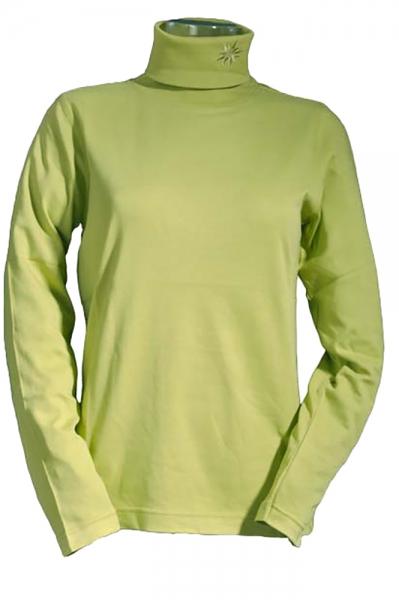 Trachtenshirt Daria grün Langarm Rollkragen Country Blue