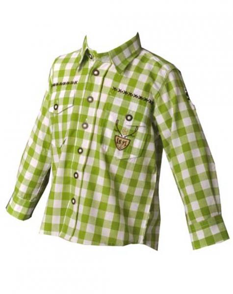 Kinder Trachtenhemd Andy giftgrün OS Trachten