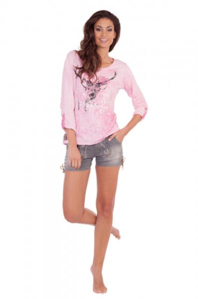 Trachtenshirt Geli pink Marjo