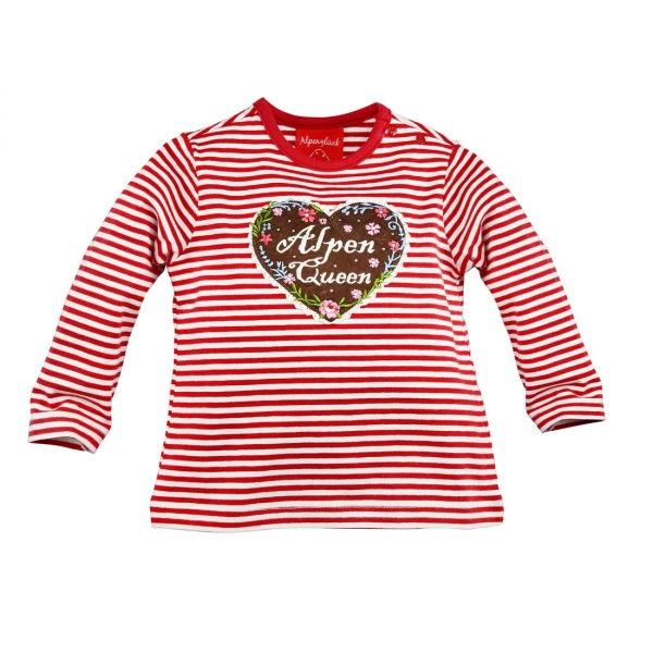 Kinder T-Shirt Alpenqueen rot Langarm Bondi