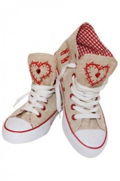 Sneaker Red Heart beige/rot Krüger