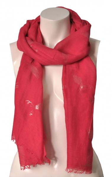 Trachtenschal rot Glitzerhirsch Wolkenweis
