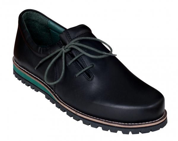 Trachtenschuhe Haferlschuh Fügen schwarz grün Leder