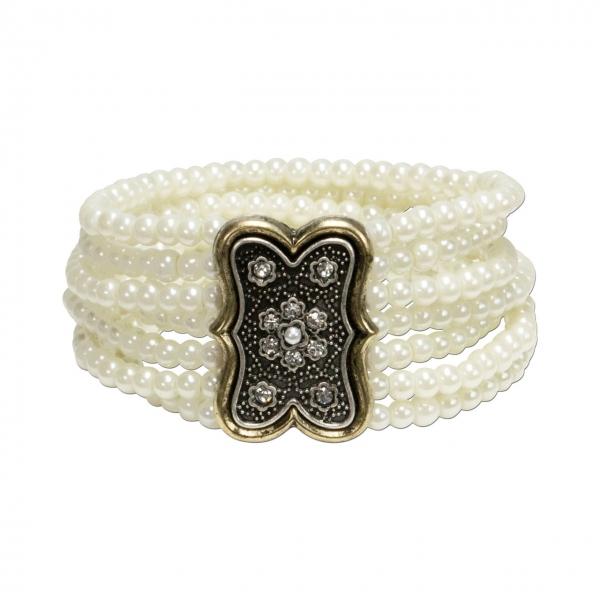 Trachten Armkette Armband Ebrach Kunstperlen creme Alpenflüstern