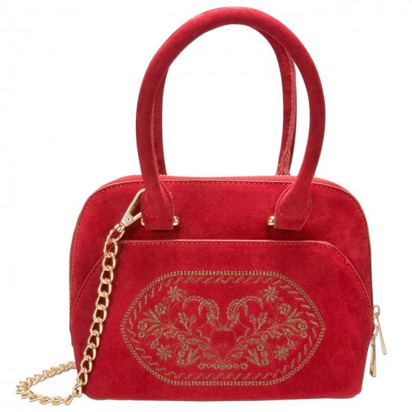 Trachten Handtasche Trachtentasche Steinbock rot