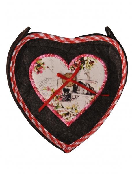 Dirndltasche Trachtentasche Herz grau anthrazit Stockerpoint