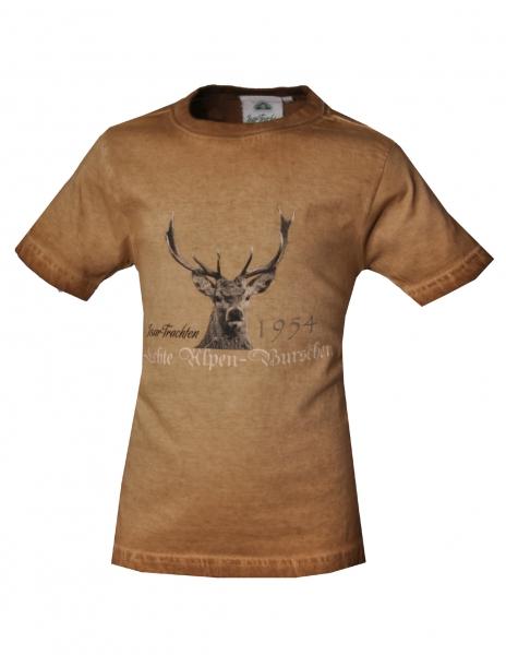 Kinder Trachten T-Shirt Trachtenshirt Hunderdorf braun Isar Trachten